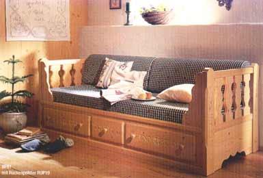 Blockh tte stadlhuber for Sofa vor heizung